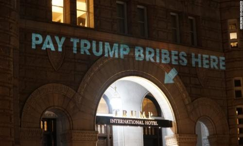Trump International Hotel In Washington And Still More Bribery