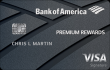 Bank of America Premium Rewards™ Credit Card (Rewards Rate Requires Platinum Honors Status through $100,000 with BoA or Merrill Lynch)